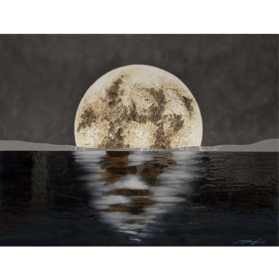 Cuadro Luna marron