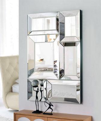 Espejo forma de cubos