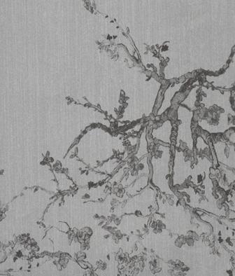 Papel Pintado Decorativo KYOTO GRIS 240 07