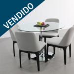 set mesa cristal y silla